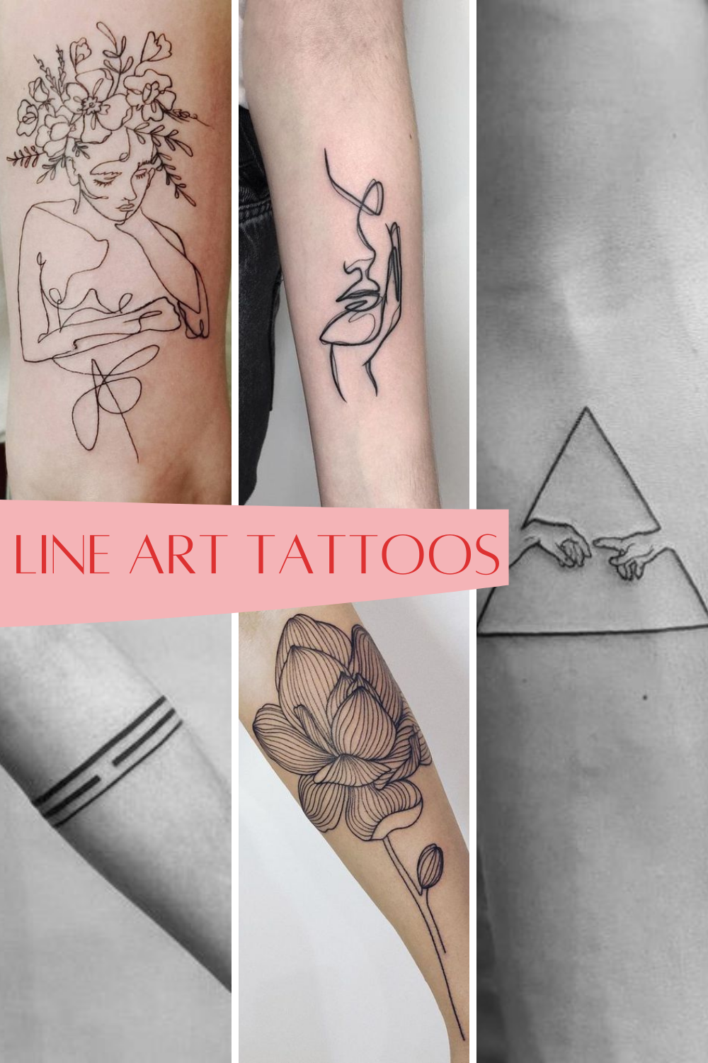 What Are Line Art Tattoos Examples