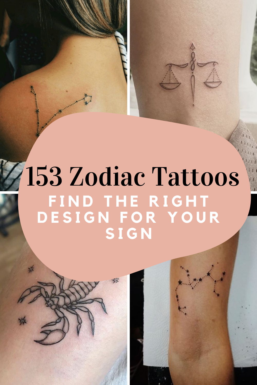 Zodiac Tattoos 153 Ideas For Your Sign Tattooglee