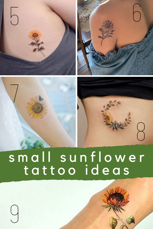 Small Sunflower Tattoo Ideas Designs and Photos
