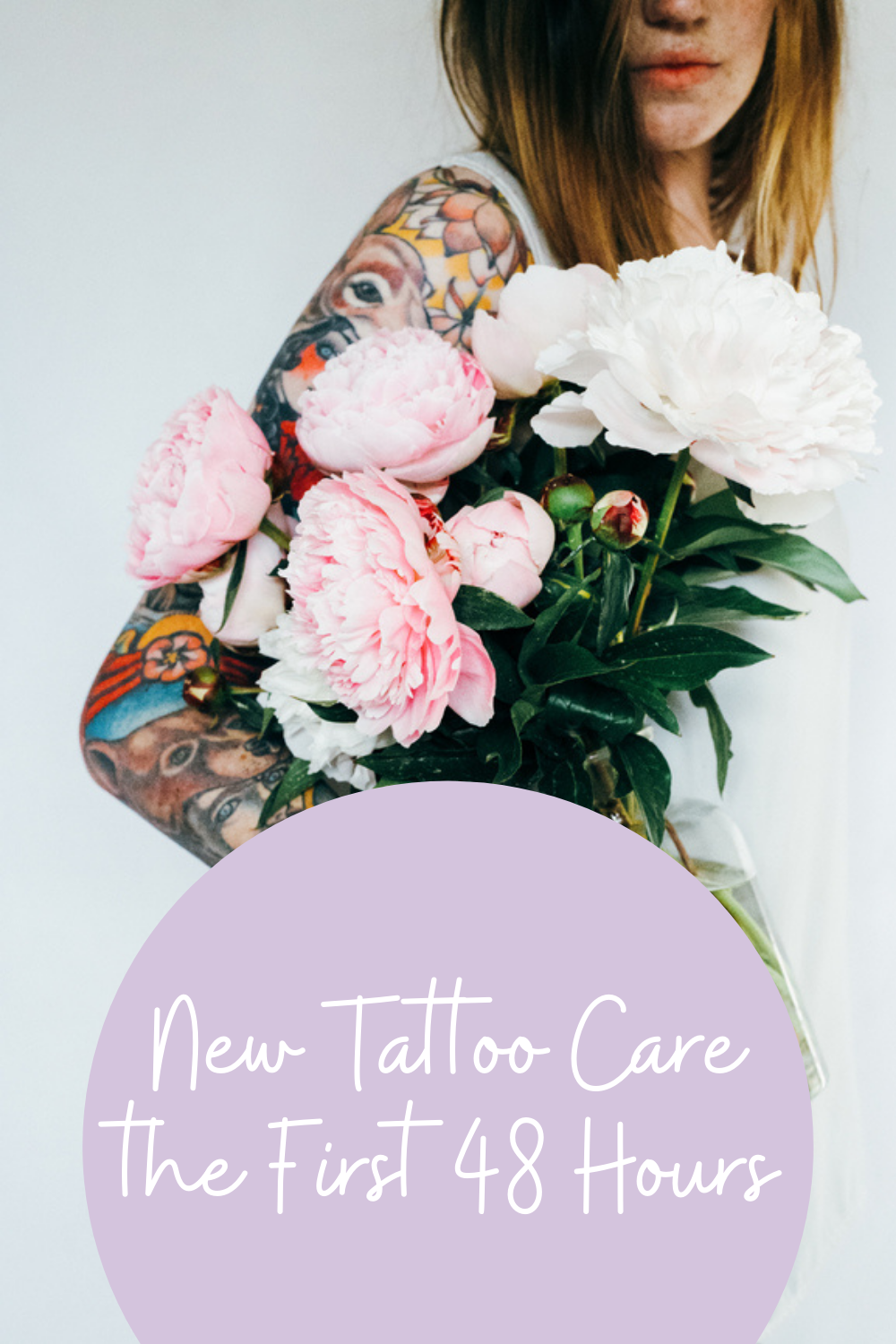 How to care for a new tattoo right away.