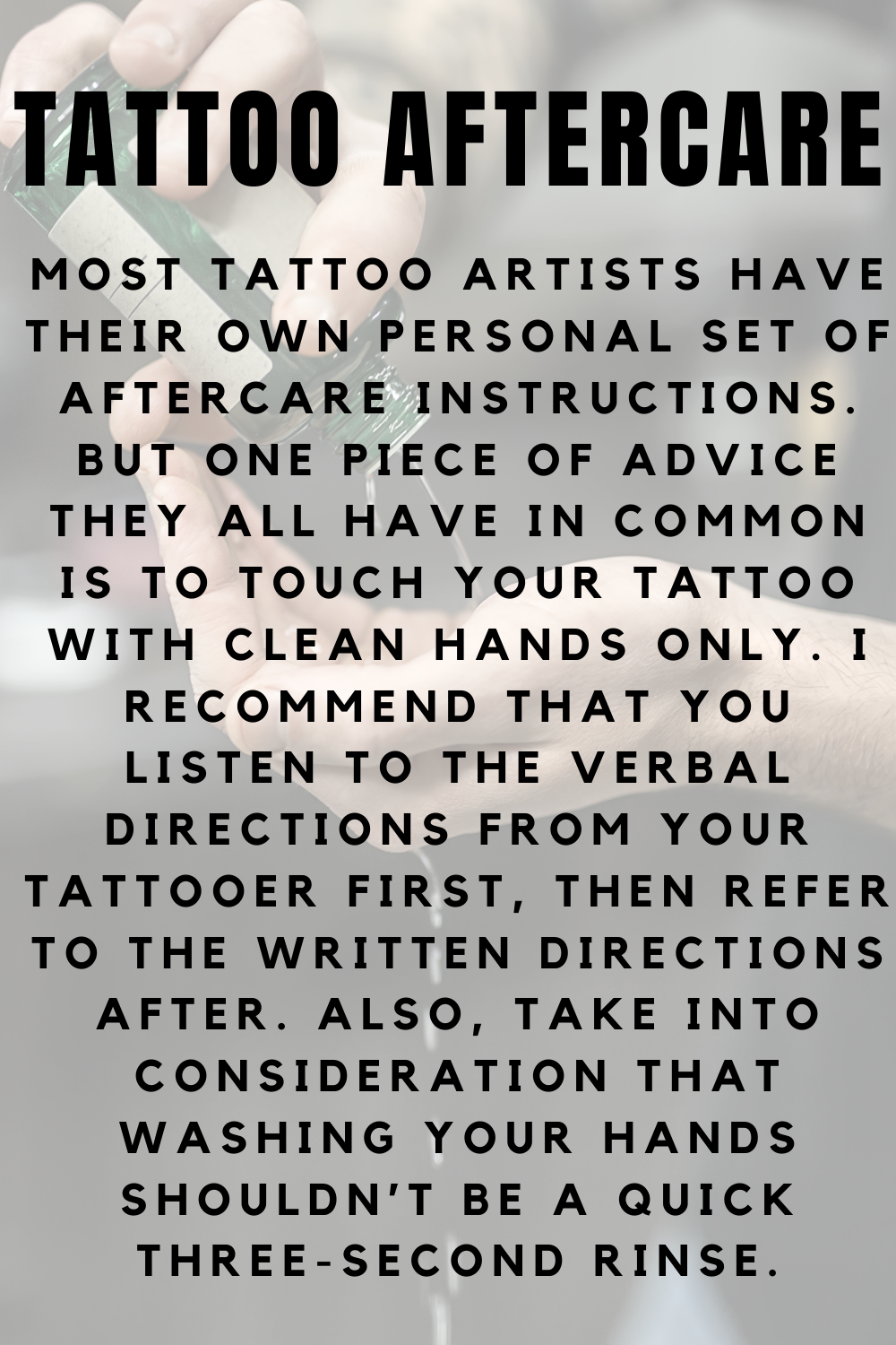 Tattoo Aftercare Meaning & Definition
