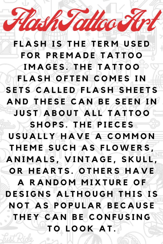 Flash Tattoo Art Definition