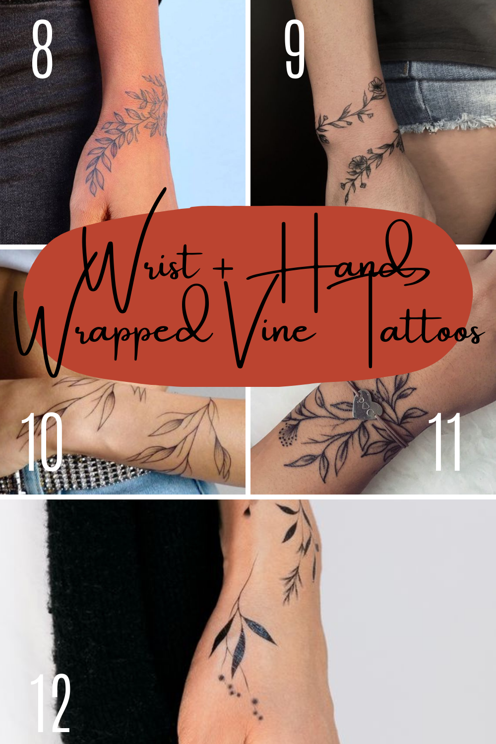 Vine Tattoo Ideas For Wrist Tattoos and Hands