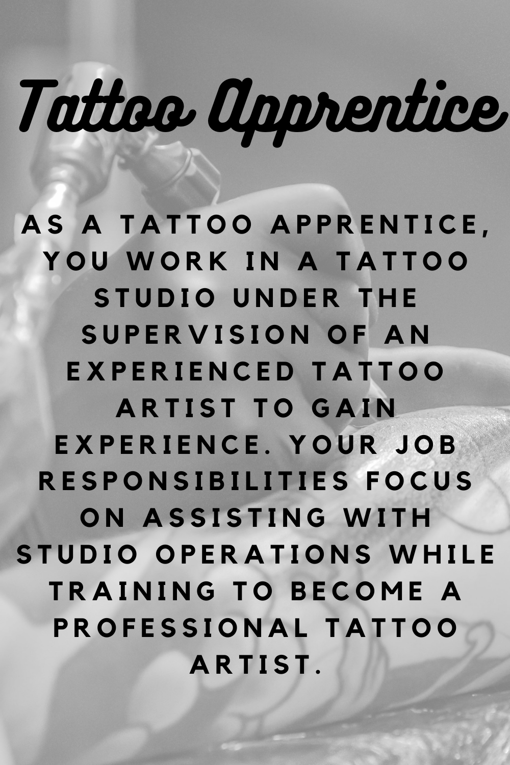What is a tattoo apprenticeship