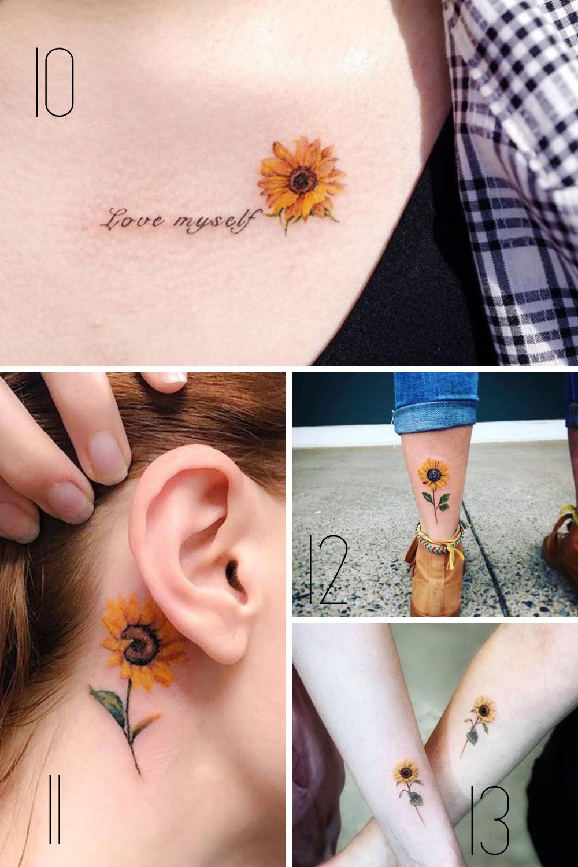 Flower Designs Sunflower Tattoo Meaning