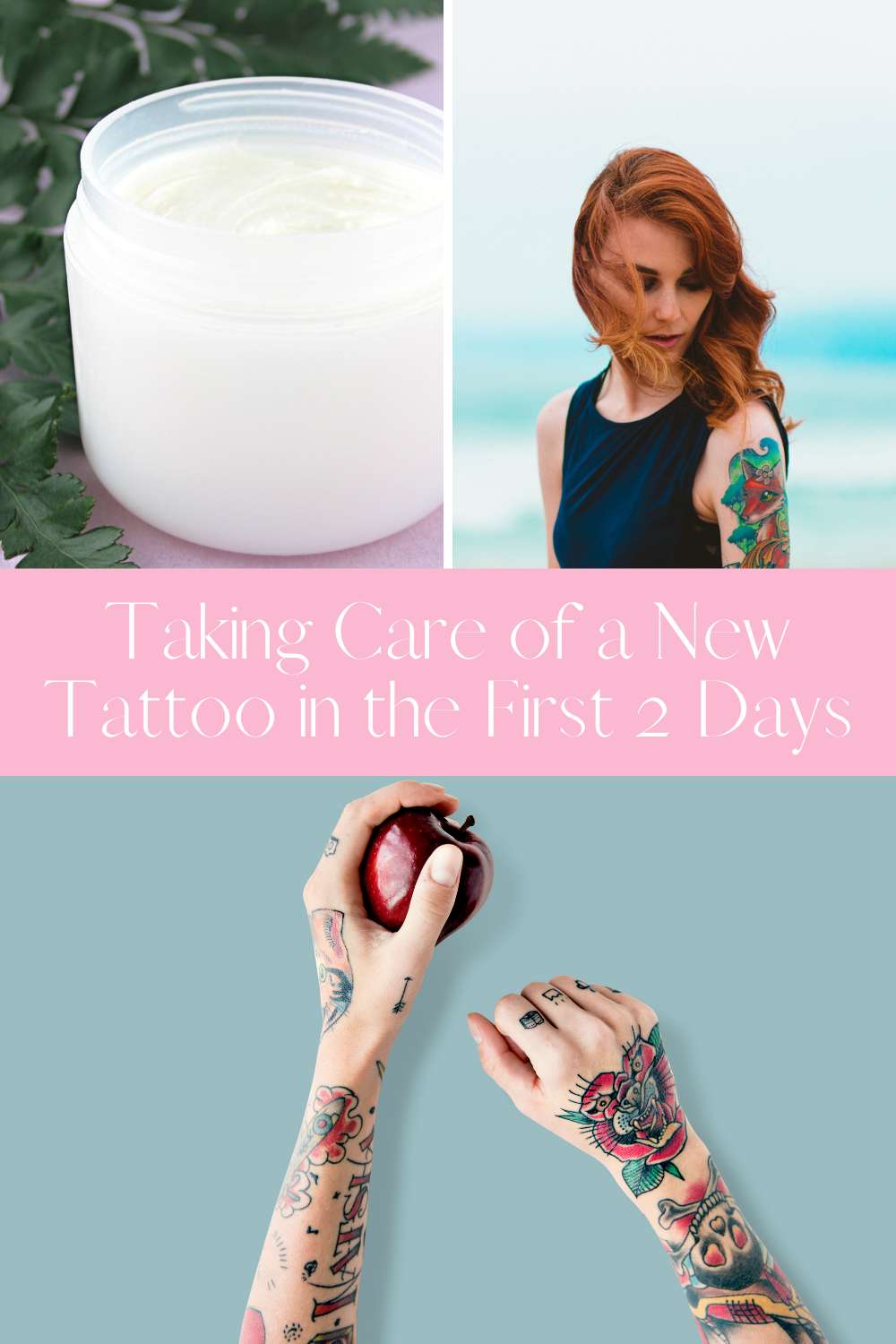 Cleaning tattoo tips for the first week