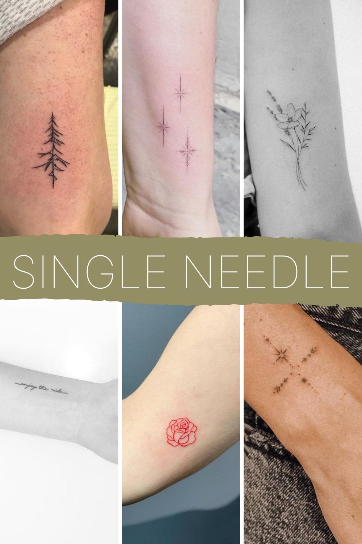 Single Needle Tattoo Inspiration