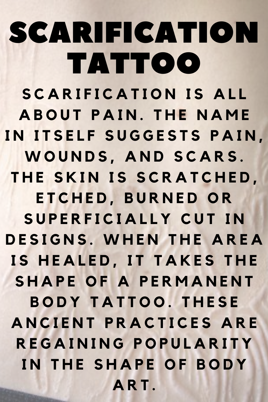 Scarification Tattoo