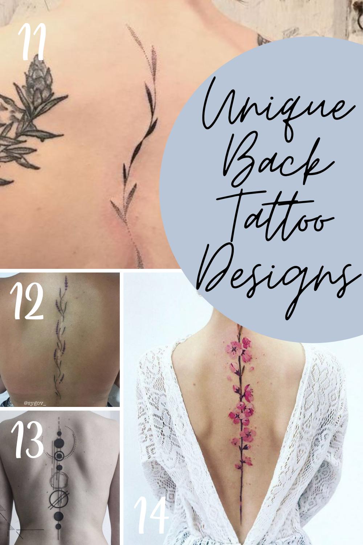 Unique Back Tattoo Designs For Women
