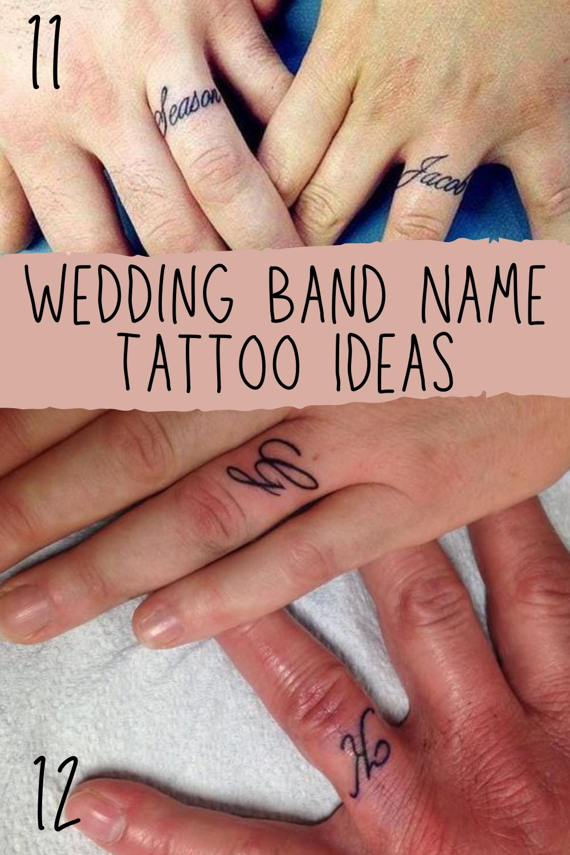 Wedding Band Tattoos Inspiration & Photos