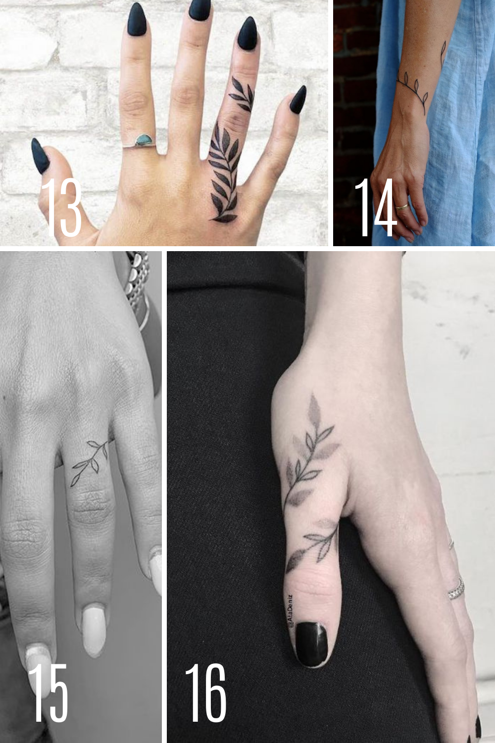 Hand Tattoos With Beautiful Vines