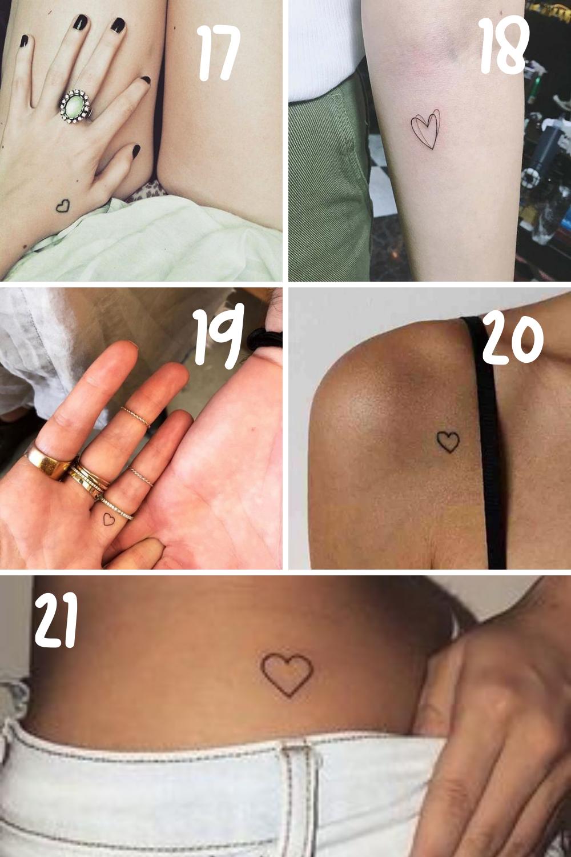 Tiny Tattoo Ideas Hearts