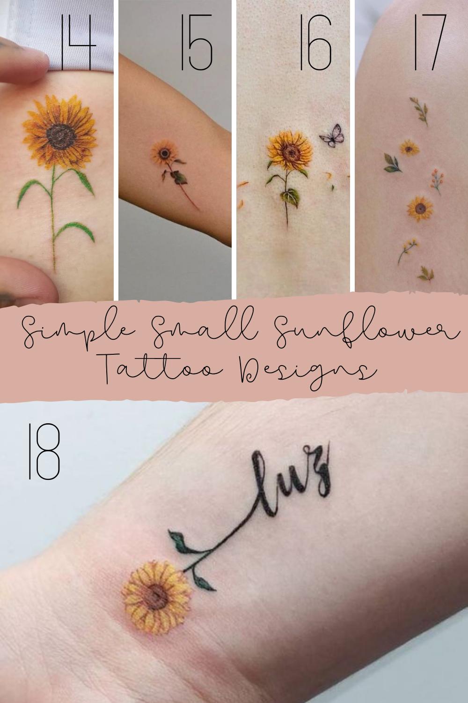 Simple Sunflower Tattoo Inspiration