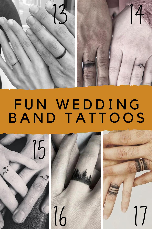 Fun & Fresh Wedding Band Tattoos