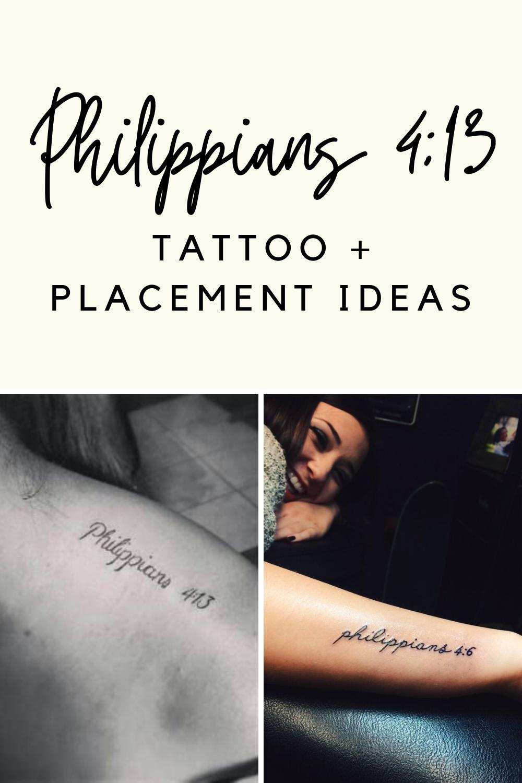 Philippians 4:13 Tattoos