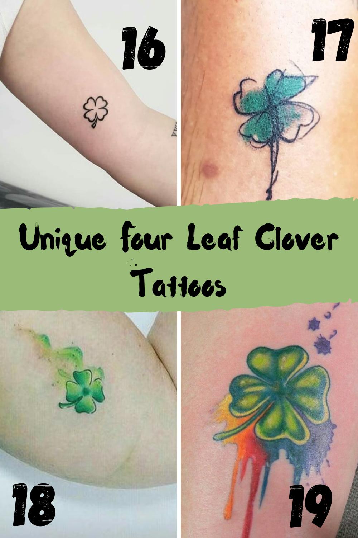 Unique Four Leaf Clover Tattoo Ideas