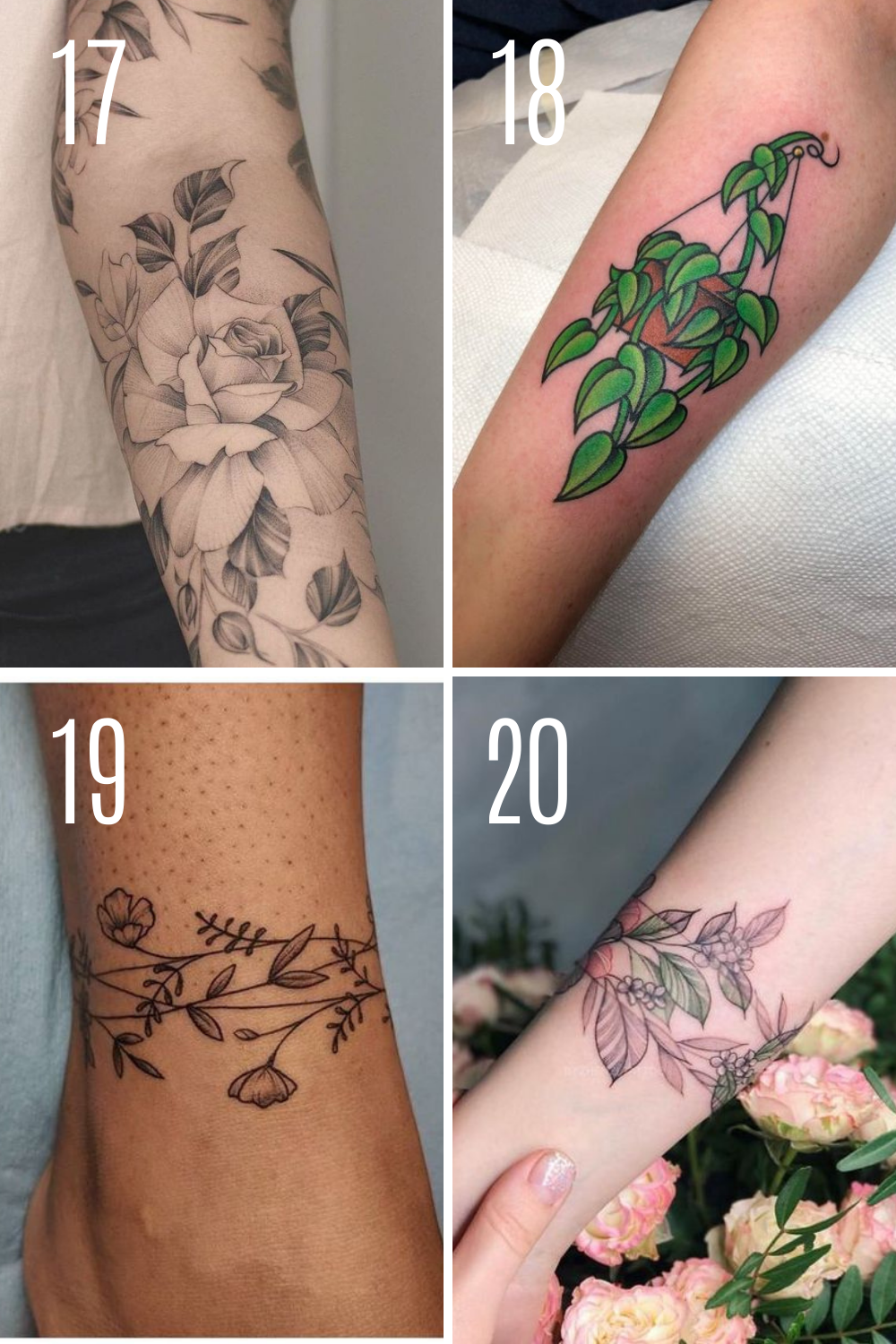 Plant Tattoos Designs For Sleeves