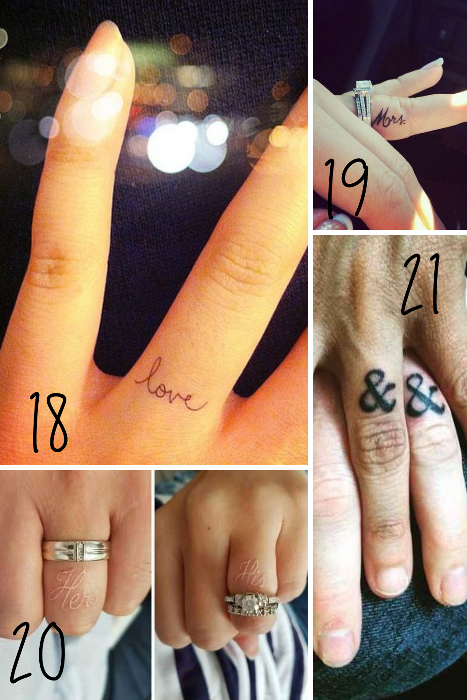 Fun Couples Matching Ring Tattoo Ideas