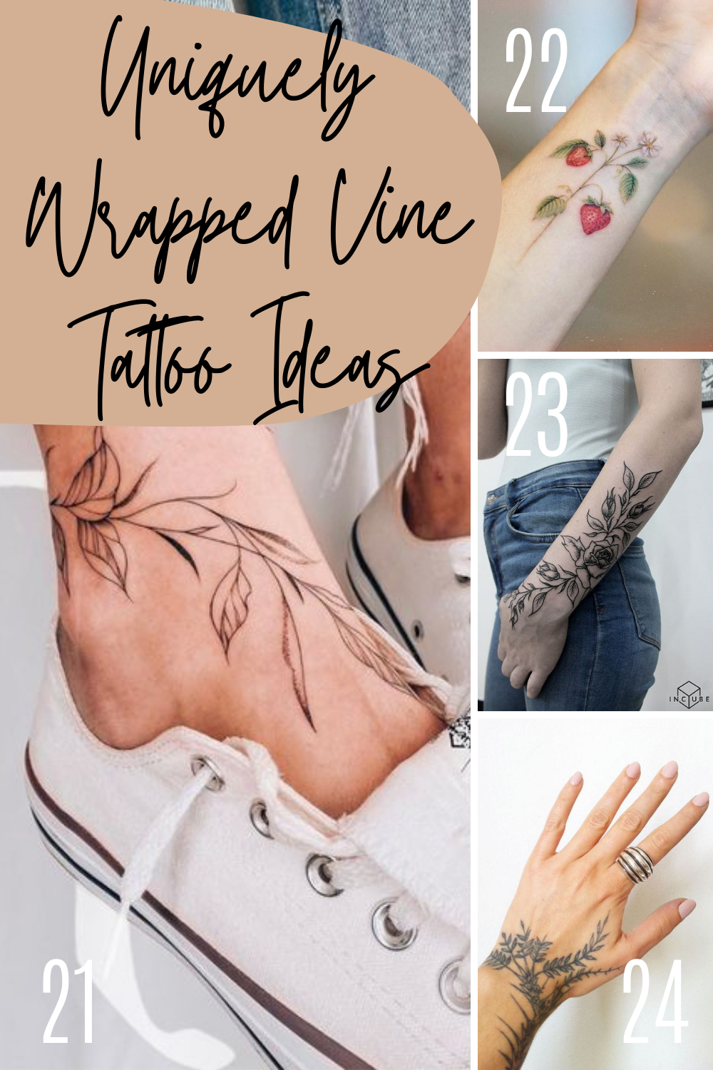 Unique Vine Tattoo Ideas