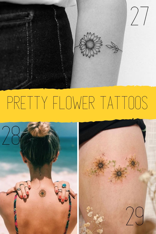 Sunflower Summer Flower Tattoos