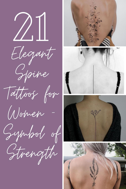Elegant Spine Tattoos for Women