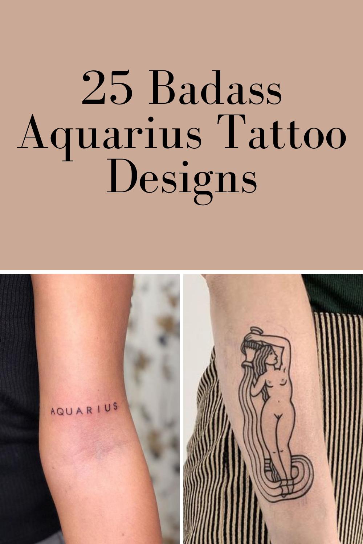 Aquarius Zodiac Tattoos Designs
