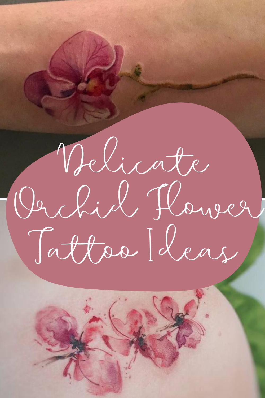 orchid tattoo ideas