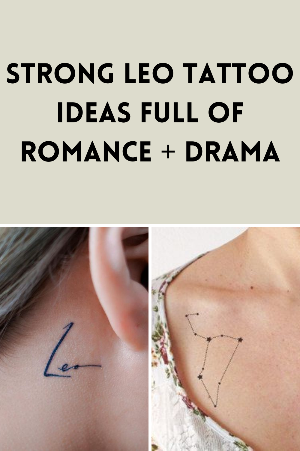 Zodiac Tattoos Strong Leo Tattoo Images