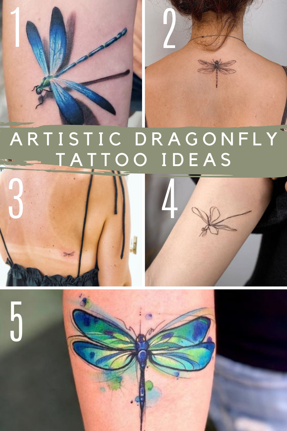 Artistic Designs Of Dragonfly Tattoos