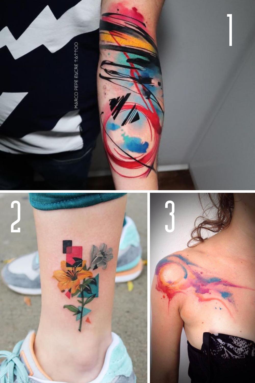 Abstract Art Tattoo Designs