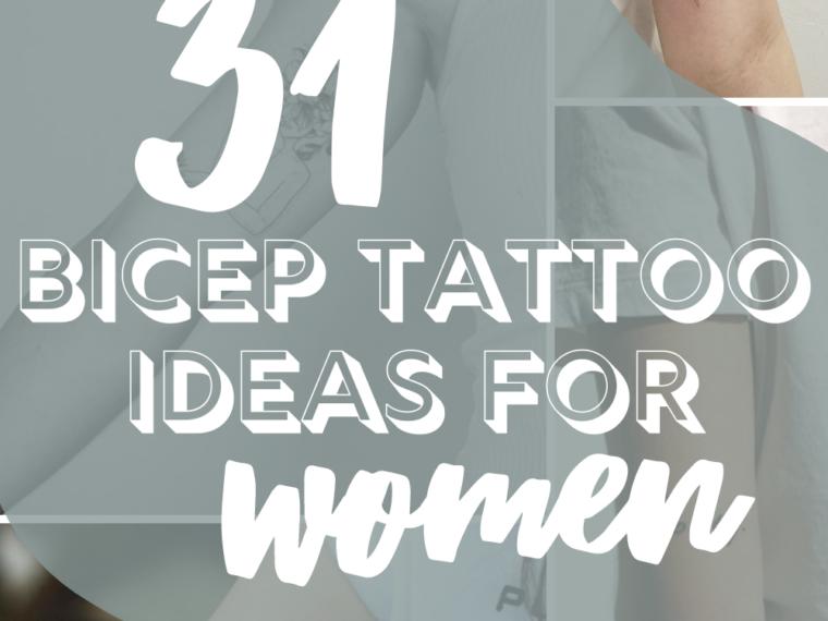 Bicep Tattoo Ideas for Women
