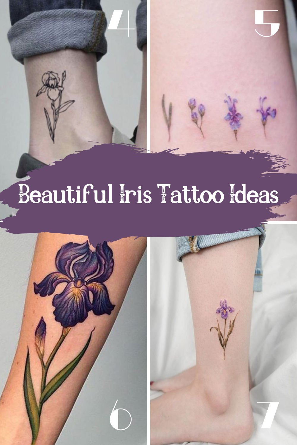 Pretty Iris Tattoos