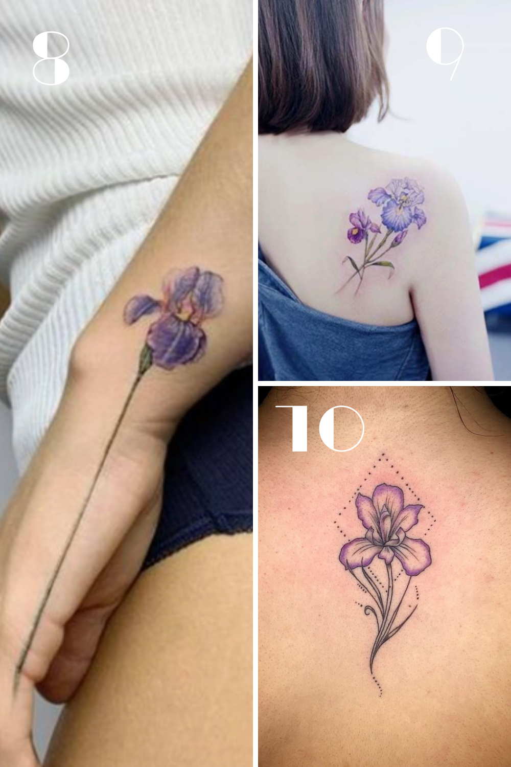 Purple Iris Tattoo Images