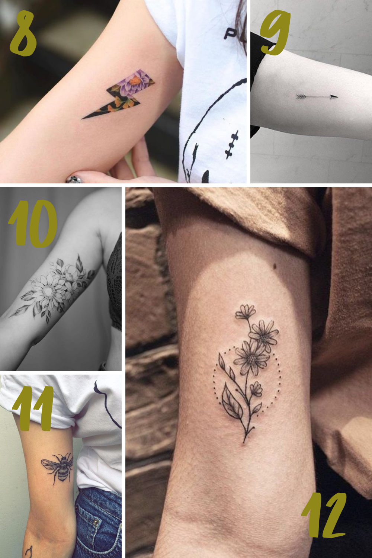 Pretty Bicep Tattoo Ideas for Women