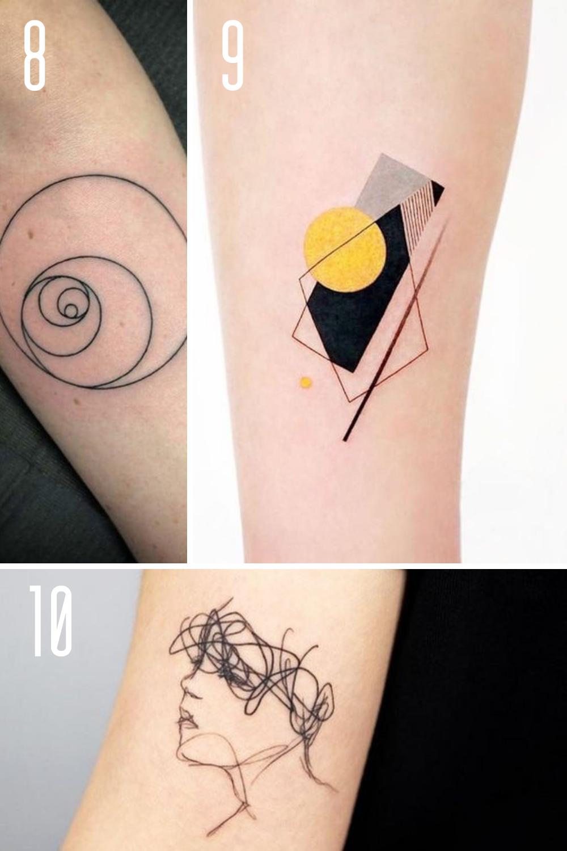 Black and White Modern Art Tattoos