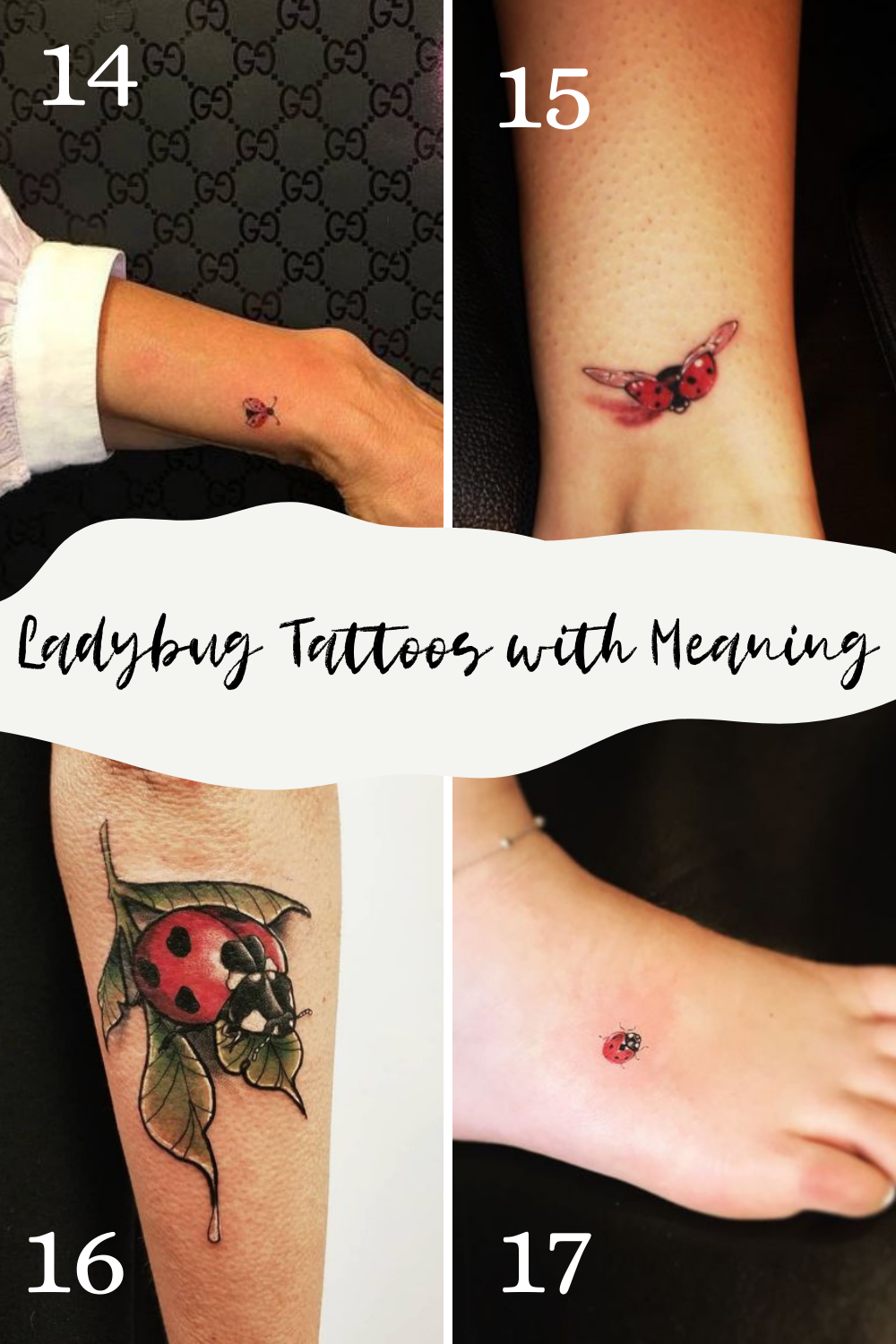 Meaningful Tattoos of Lady Bugs