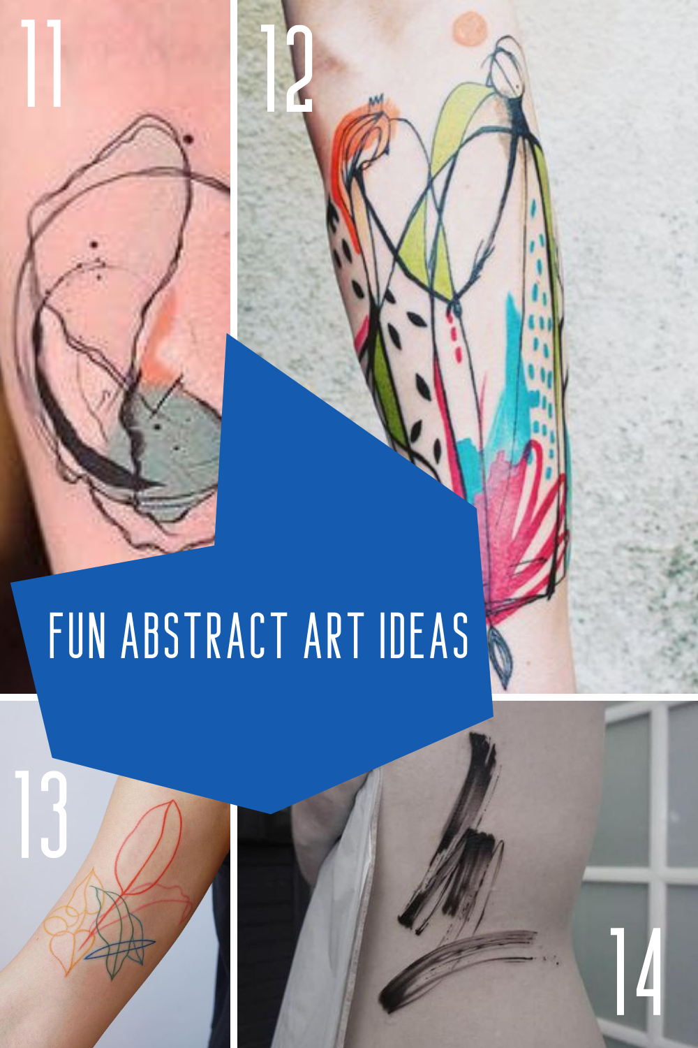 Colorful Abstract Art Tattoo Images & Inspiration