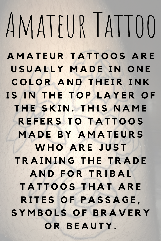 Amateur Tattoo Definition