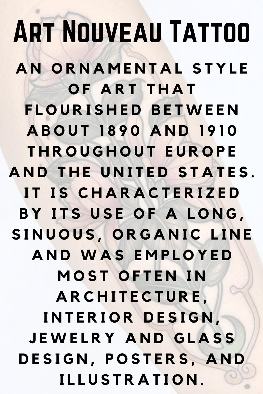 Art Nouveau Tattoo Definition