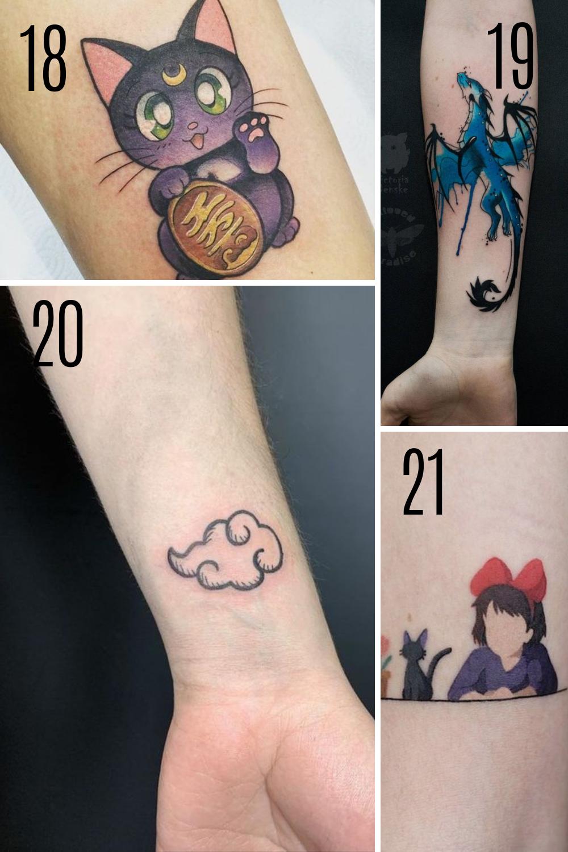 Anime Tattoo Photo & Designs