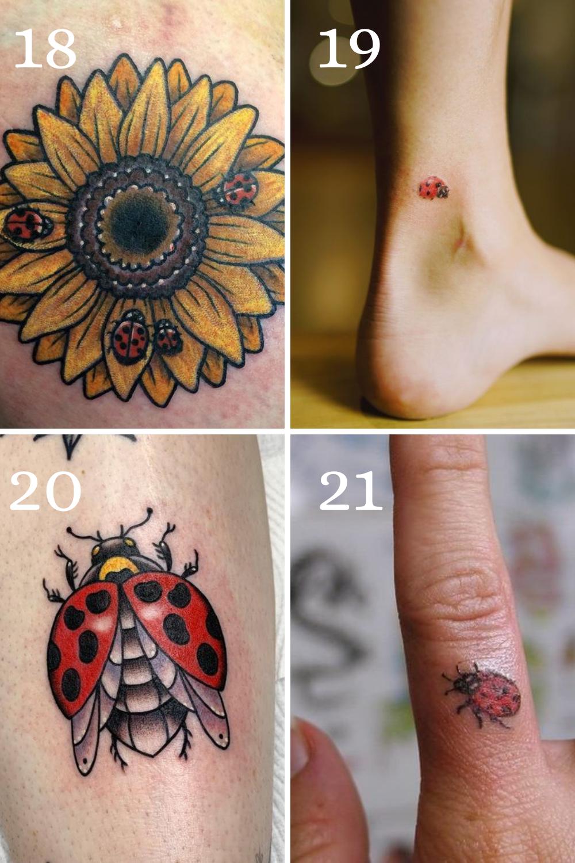 Cute Lady Bug Tattoo Designs