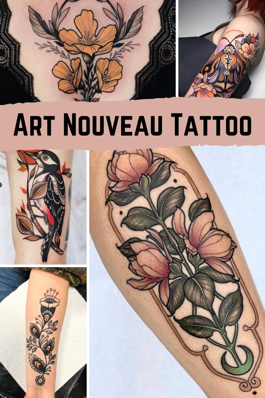Art Nouveau Tattoo Designs Inspiration