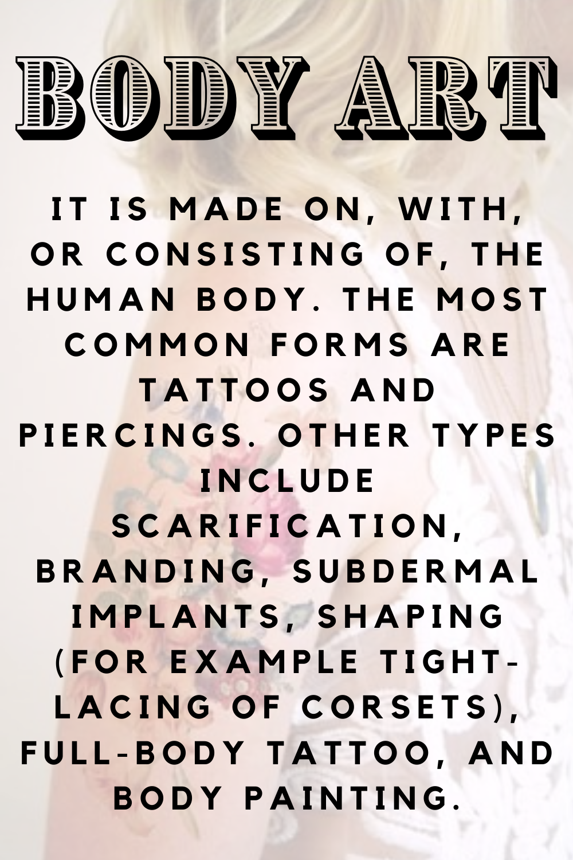 Body Art Tattoo Definition