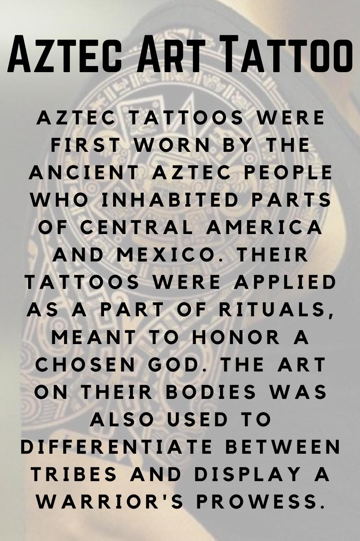 Aztec Art Tattoo Defined