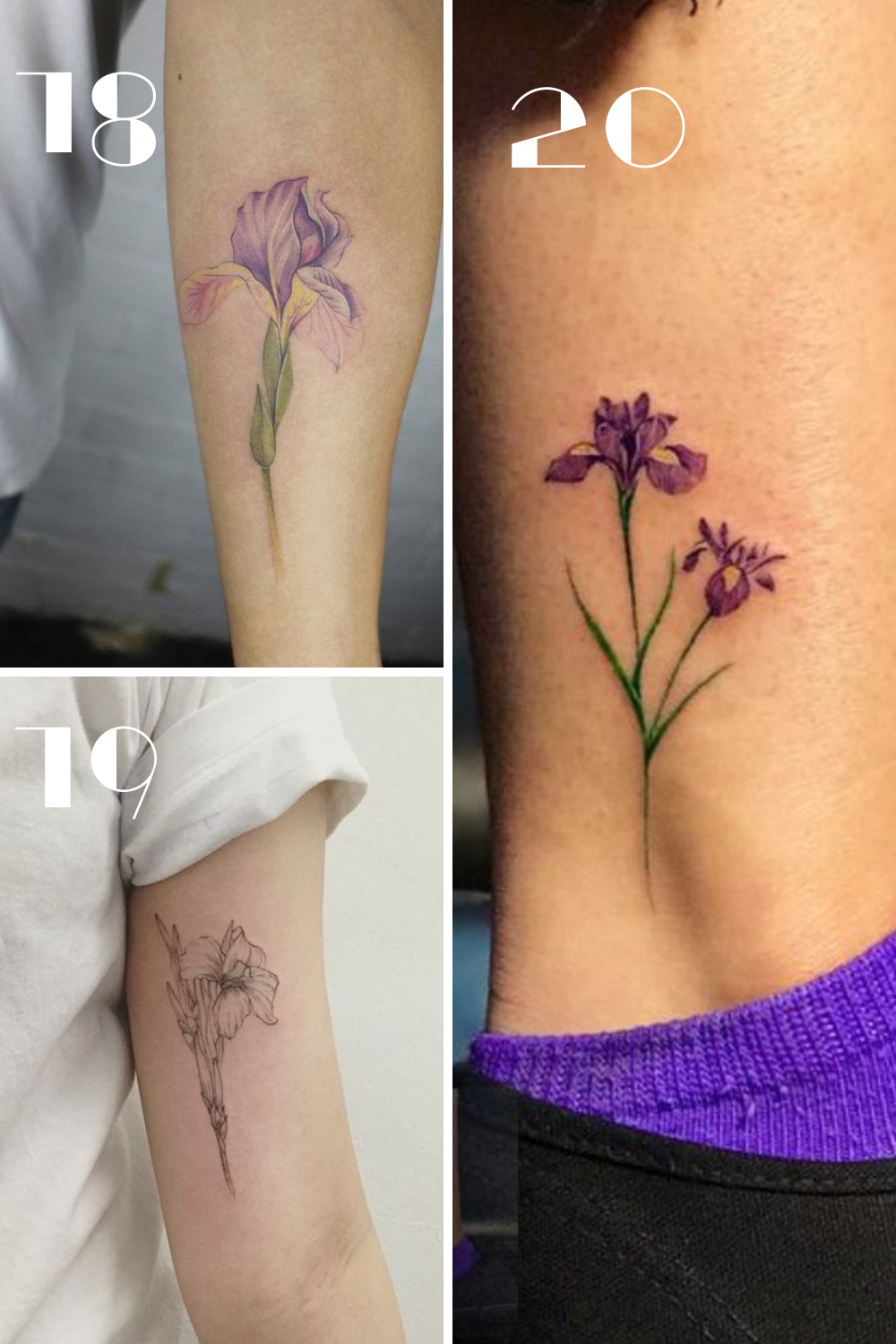 Simple Purple Flower tattoos