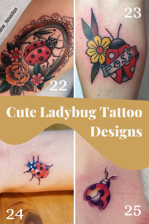 Ladybug Tattoo Images