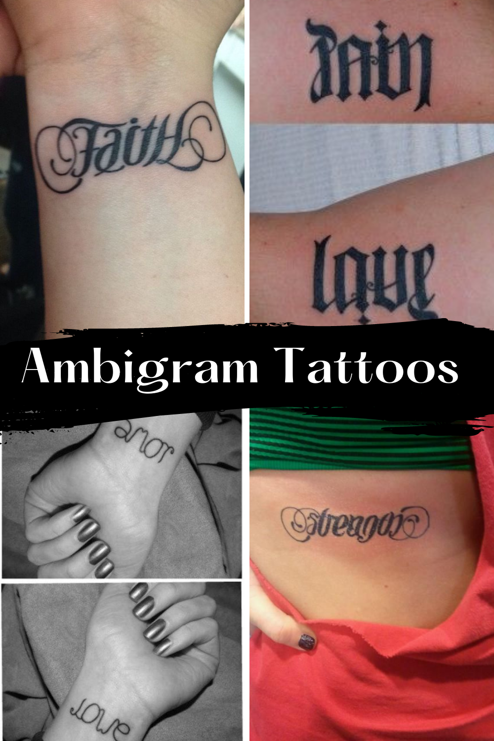 Ambigram tattoo Ideas & Designs