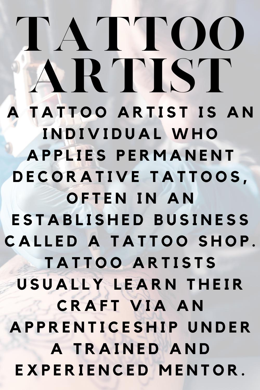 Tattoo Artist Definition