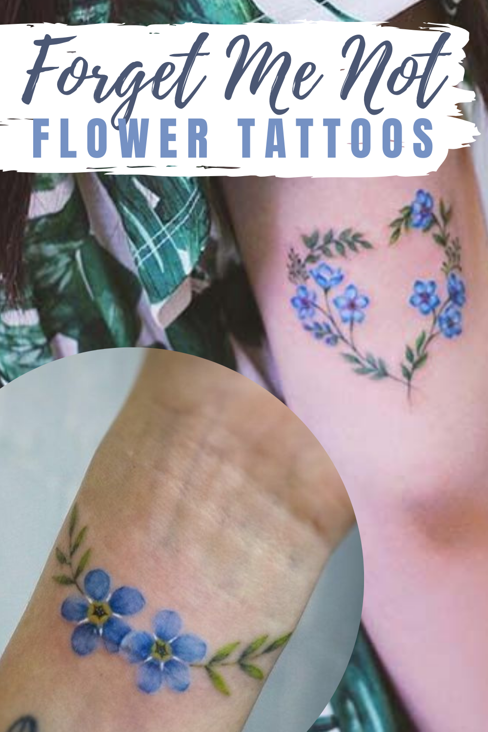 Stunning Forget Me Not Flower Tattoos
