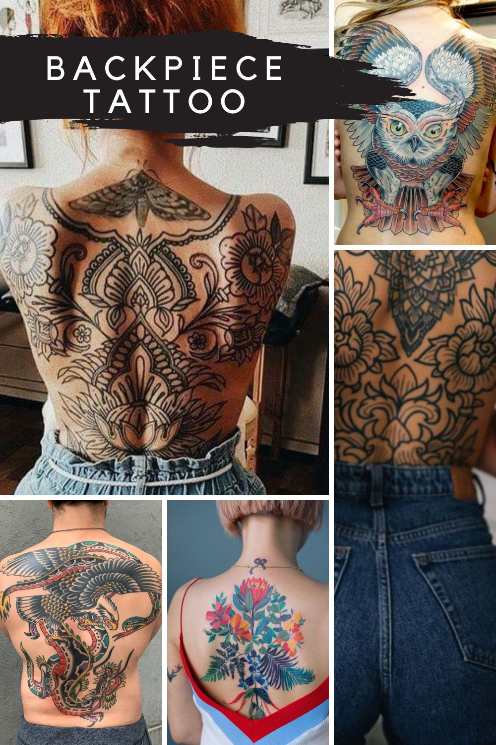 Backpiece Tattoo Ideas and designs
